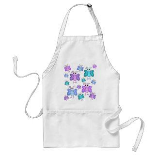 Blue and purple cute butterflies standard apron