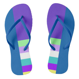 Blue and Purple Design Sandals Flip Flops