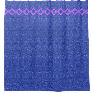 Blue and Purple Diamonds Abstract Damask Pattern