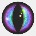 Blue and Purple Dragons Eye Round Sticker