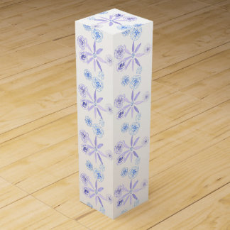 Blue and purple floral wine box