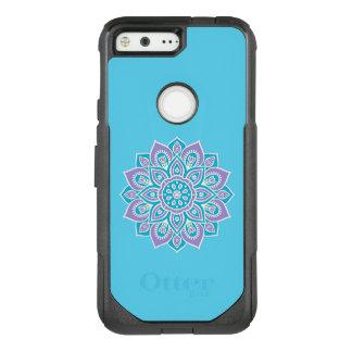 Blue and Purple Flower Google Pixel Otterbox Case