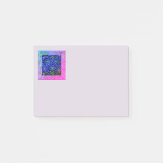 Blue And Purple Flowers Post-it Notes