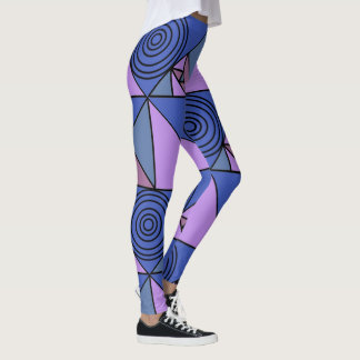 Blue and purple funky leggings