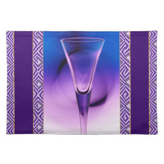 Blue And Purple Glass Placemat