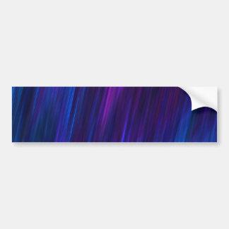 Blue and purple glowing night bumper sticker