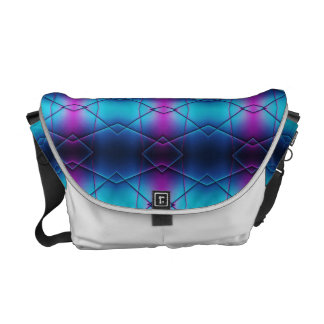 Blue And Purple Gradient Abstract Pattern Messenger Bags