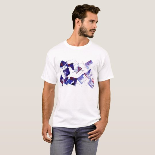 Blue and Purple Grapes Modern Art with quote T-Shirt