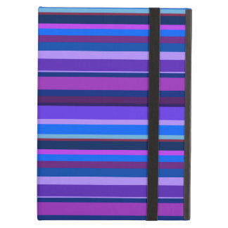 Blue and purple horizontal stripes cover for iPad air