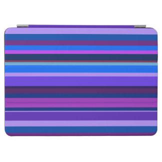 Blue and purple horizontal stripes iPad air cover