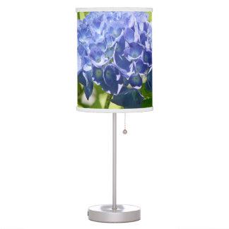 Blue and Purple Hydrangea Flower Table Lamp
