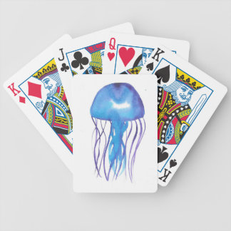Blue and Purple Jellyfish Bicycle Playing Cards