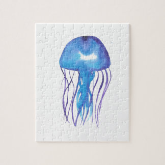 Blue and Purple Jellyfish Jigsaw Puzzle