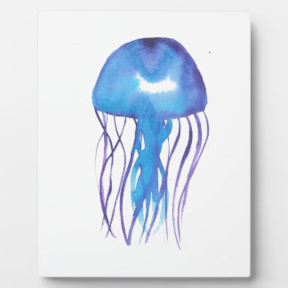 Blue and Purple Jellyfish Plaque