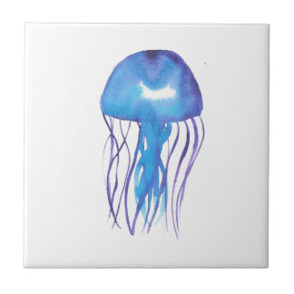 Blue and Purple Jellyfish Tile