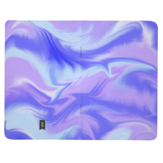 Blue and Purple Marbled Journal