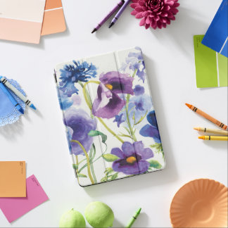 Blue and Purple Mixed Garden iPad Air Cover
