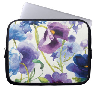Blue and Purple Mixed Garden Laptop Sleeve