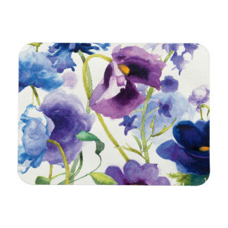 Blue and Purple Mixed Garden Magnet