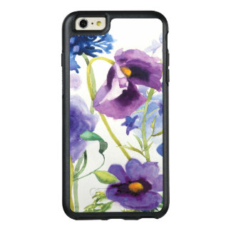 Blue and Purple Mixed Garden OtterBox iPhone 6/6s Plus Case