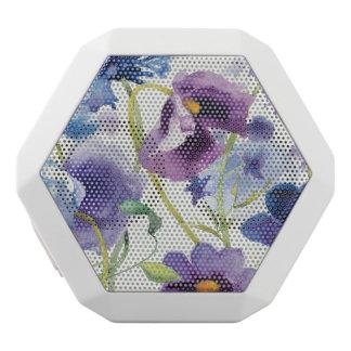 Blue and Purple Mixed Garden White Bluetooth Speaker