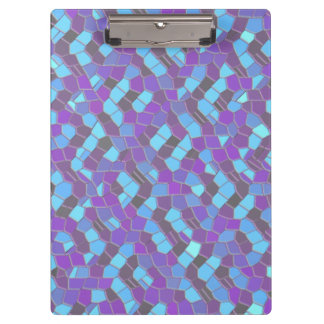 Blue And Purple Mosaic Clipboard