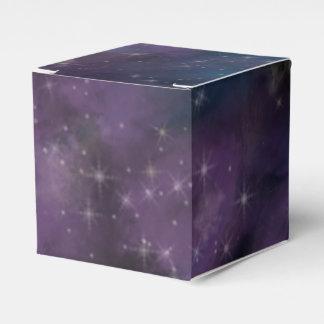 Blue and Purple Nebula Favor Box