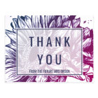Blue and Purple Ombre Sunflowers Thank You Postcard