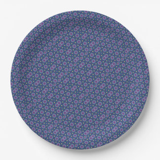 Blue and Purple Party Paper Plate