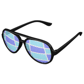 Blue and purple pattern party shades