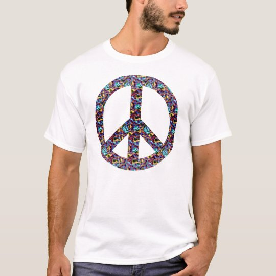 Blue and Purple Peace Sign T-Shirt