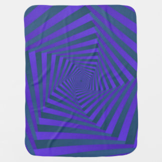 Blue and Purple Pentagon Spiral Baby Blanket