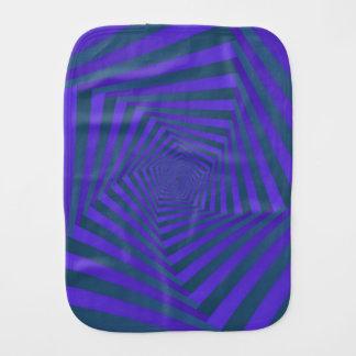 Blue and Purple Pentagon Spiral Burp Cloth