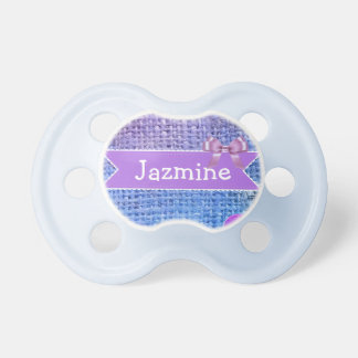Blue and Purple Personalized Baby Girl Pacifier