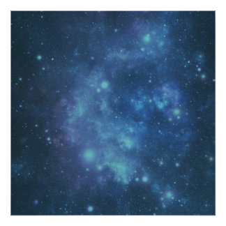Blue and Purple Space Image Poster