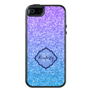Blue And Purple Sparkling Glitter OtterBox iPhone 5/5s/SE Case