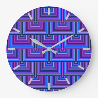 Blue and purple square scales clocks