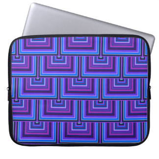 Blue and purple square scales computer sleeves