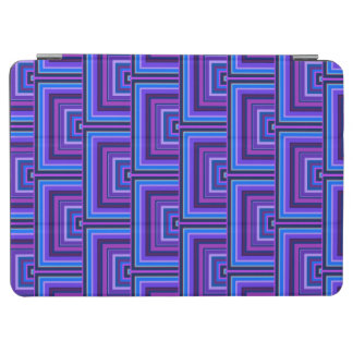 Blue and purple square scales iPad air cover