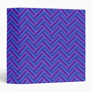 Blue and purple stripes double weave 3 ring binders