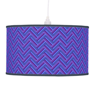 Blue and purple stripes double weave hanging pendant lamps
