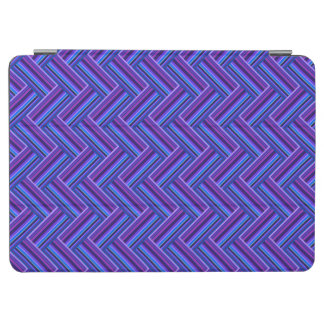 Blue and purple stripes double weave iPad air cover