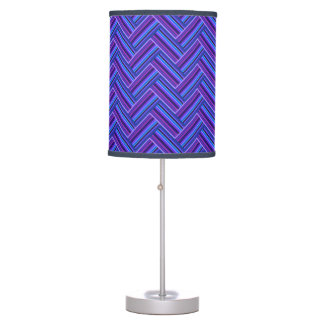 Blue and purple stripes double weave table lamp