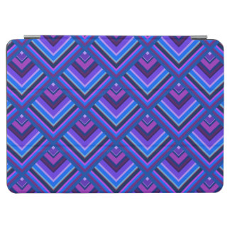 Blue and purple stripes scale pattern iPad air cover