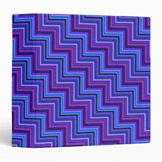 Blue and purple stripes stairs 3 ring binders