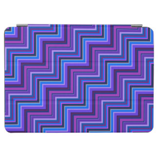 Blue and purple stripes stairs iPad air cover