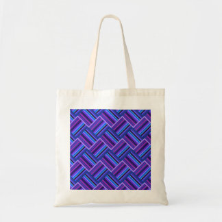 Blue and purple stripes weave