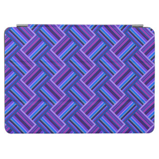 Blue and purple stripes weave iPad air cover