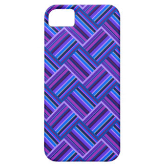 Blue and purple stripes weave iPhone 5 cases