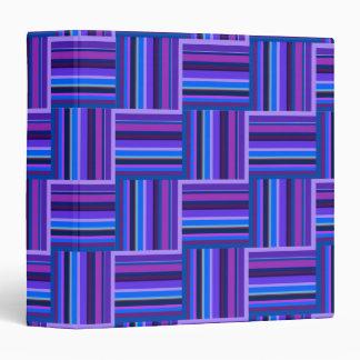 Blue and purple stripes weave pattern binder